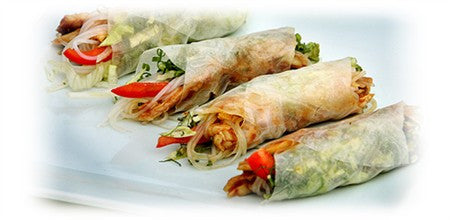 RICE PAPER ROLLS WITH CHICKEN