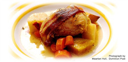Sage Chicken with Prosciutto with Vegetables