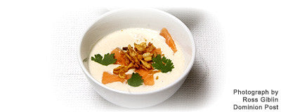 SALMON & COCONUT SOUP