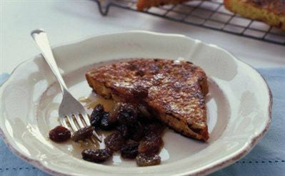 Spanish Toast with Sherry Raisins