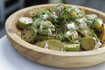 Summer Squash with Tahini Sauce