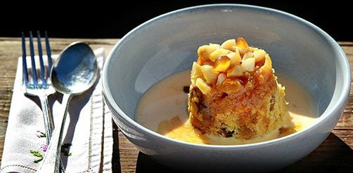 Upside-Down Ginger Pudding with Vanilla Custard