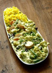 Vegetable Curry with Saffron Rice
