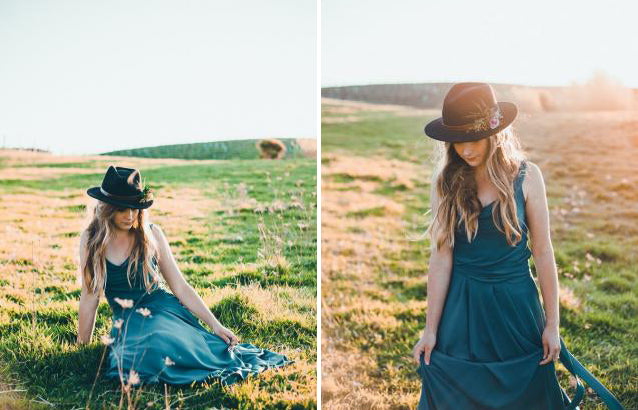 Dear Indie Bohemian bridesmaid and bride styled shoot. Victor bridesmaid dresses