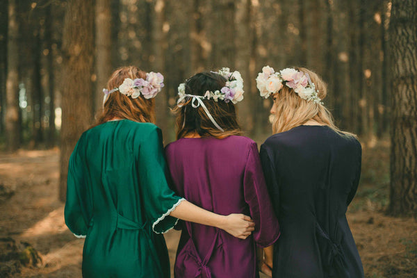 Forest and Rose Bohemian Styled Bridesmaid and Bride Shoot