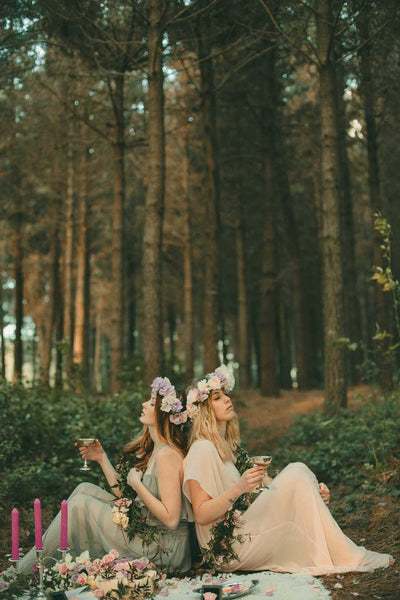 Forest and Rose Bohemian Styled Bridesmaid and Bride Shoot. Victor Bridesmaid