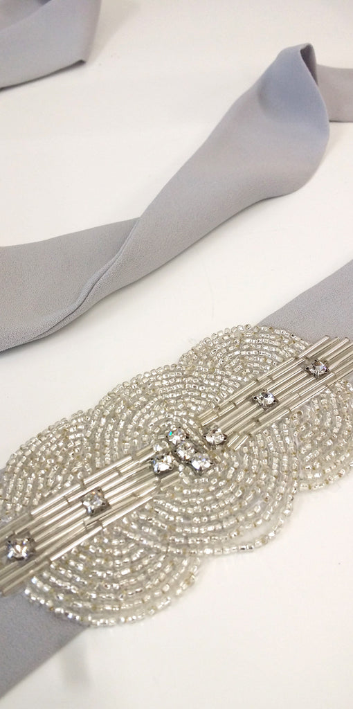 Embellished Beaded Bridesmaid Tie