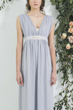 Embellished Beaded Bridesmaid Tie with Grey bridesmaid dress you will wear again