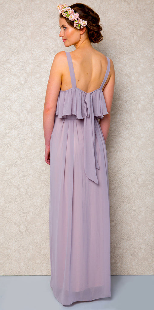 Long Ruffle Neck Bohemian Style Victor Bridesmaid Dress you will wear again