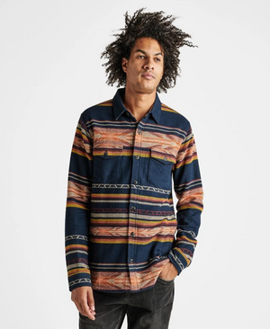 ALEUTIA BLANKET LONG SLEEVE FLANNEL OVERSHIRT