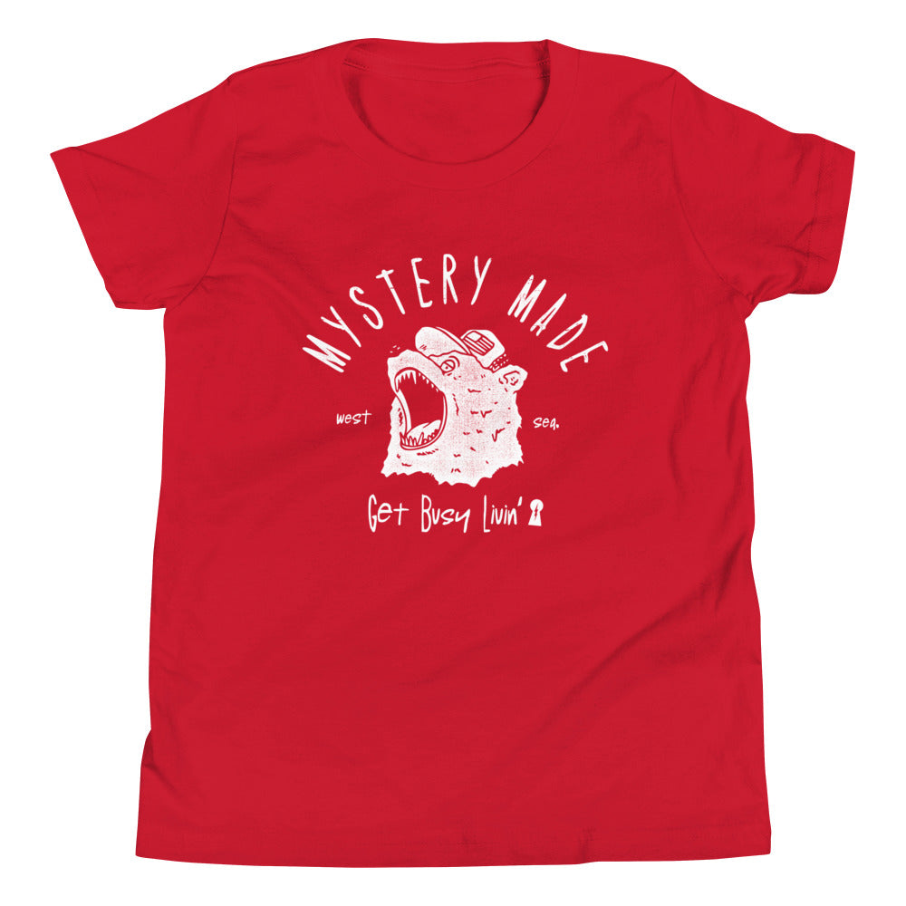 Youth Angry Bear Tee - Red