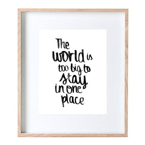 Big World Print