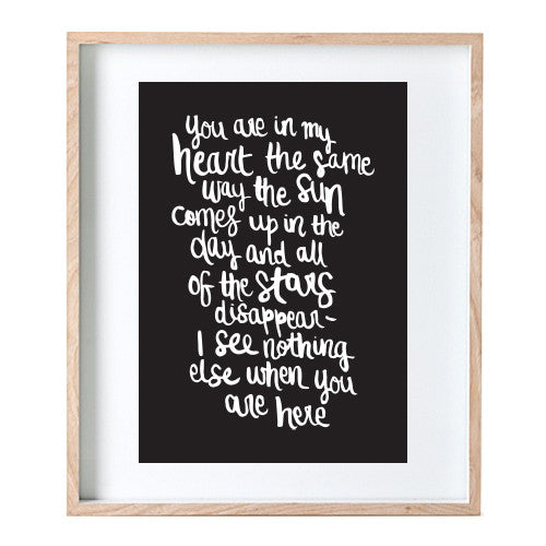 In My Heart Print