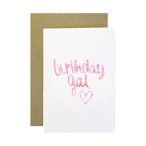 Birthday Gal Greeting Card