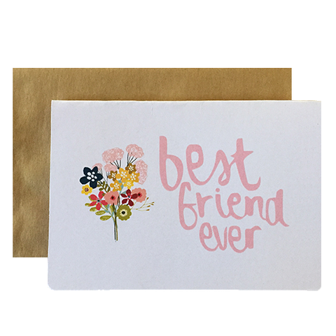 Hand lettered greeting cards for friends