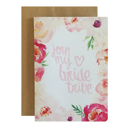 Hand lettered bridesmaid greeting cards