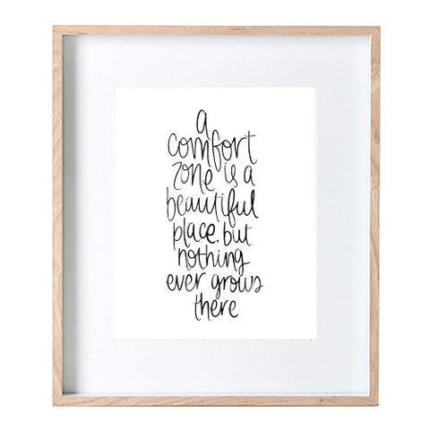 Comfort Zone Hand-lettered Print