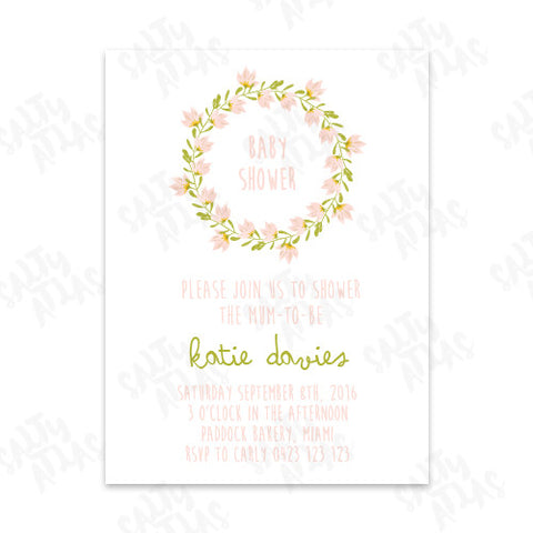 Pastel Floral Baby Shower Invitation