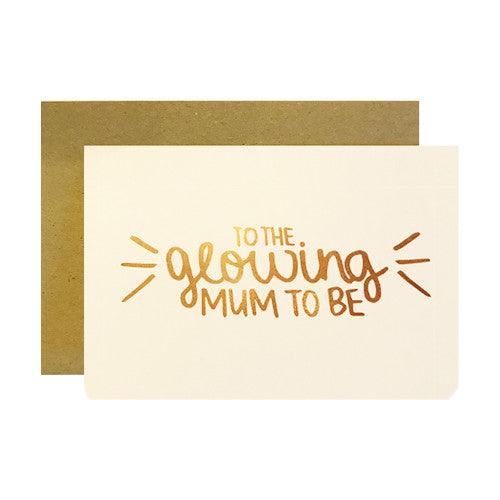 Hand lettered baby shower greeting cards