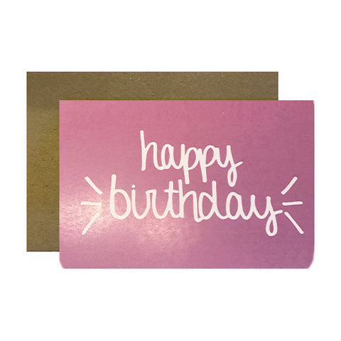 Hand lettered birthday greeting cards