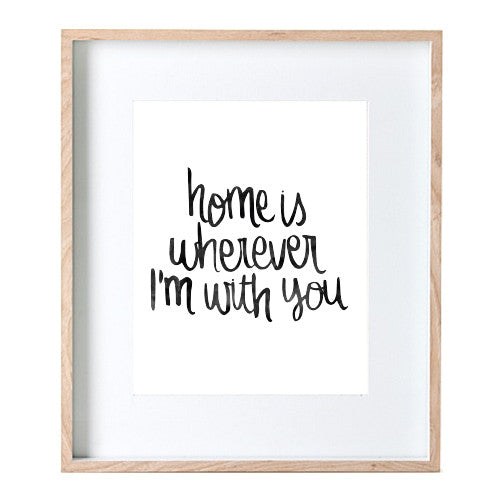 Home With You Print