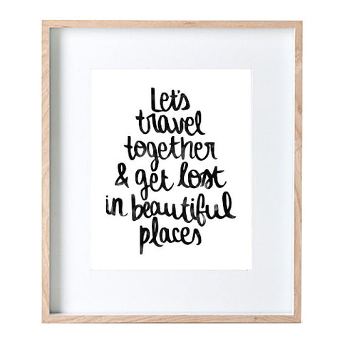Let's Travel Print