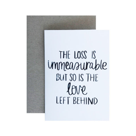 Loss Greeting Card