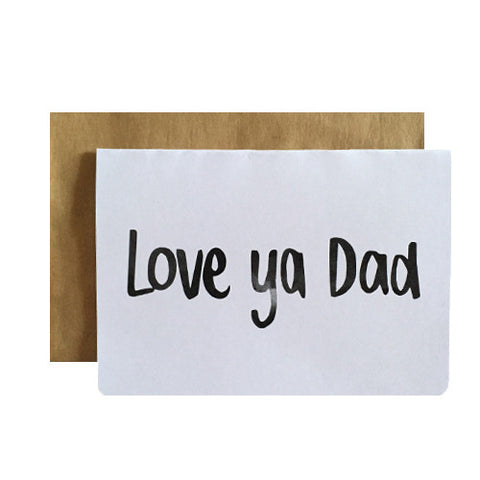 Love Ya Dad Greeting Card
