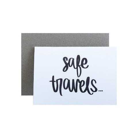Safe Travels Greeting Card