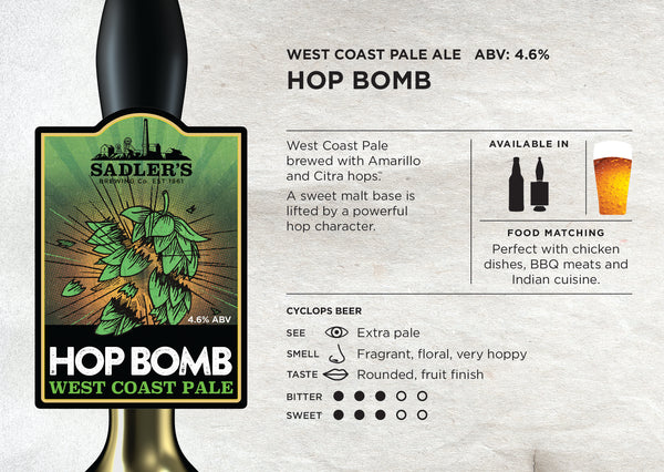Hop Bomb - West Coast Pale Ale - ABV 4.6%