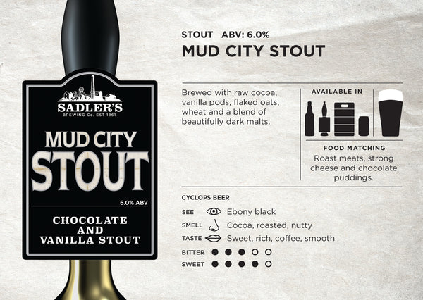 Mud City Stout - Chocolate & Vanilla Stout - ABV 6%