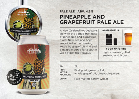 Pineapple and Grapefruit Pale Ale - ABV 4.5% created