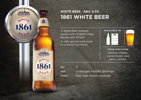 1861 - White Wheat Beer - ABV 5.3%