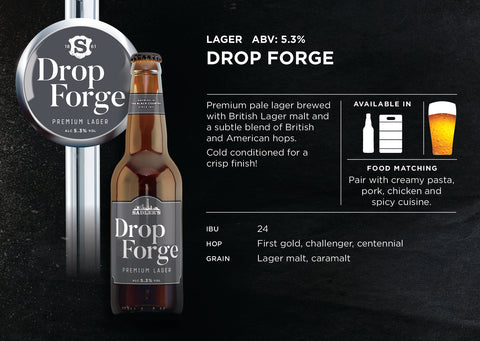 Dropforge Premium Craft Lager 5.3% ABV