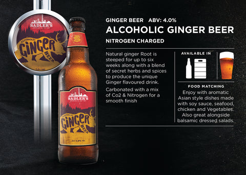 Alcoholic Ginger Beer by Sadler's - 4% ABV