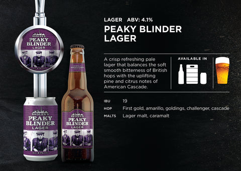 Peaky Blinder Craft Lager - ABV 4.1%