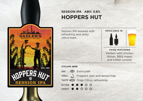 Sadler's Hoppers Hut, Session IPA Pale Ale, Craft Beer