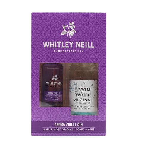 Whitley Neill Parma Violet Gin Miniature & Original Tonic Gift Set