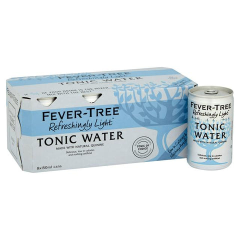 Fever Tree Refreshingly Light Premium Tonic Water 8x150ml Pack