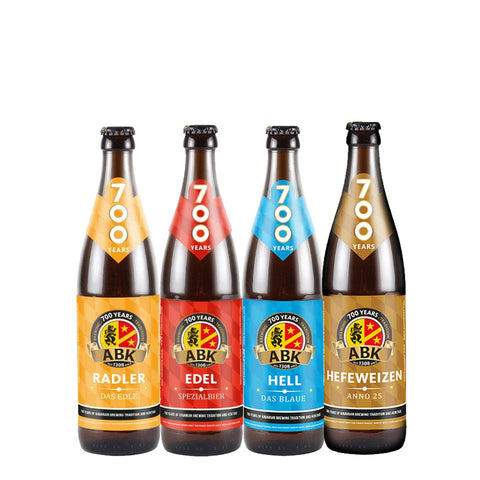 ABK Mixed Case - Edel, Hell, Radler, Hefeweizen 12 500ml Bottle Case