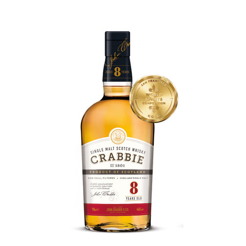 Crabbie 8 Year Old Single Malt Scotch Whisky