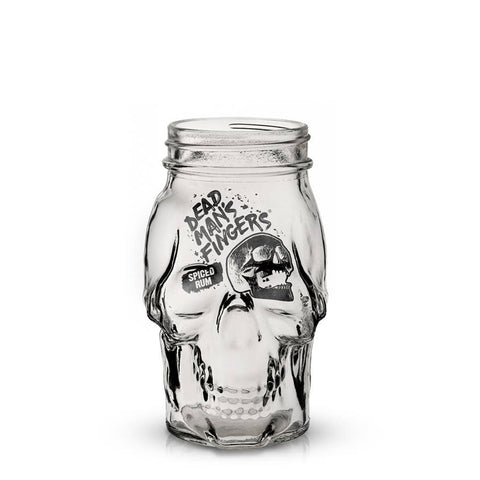 Dead Man's Fingers Spiced Rum Skull Glass