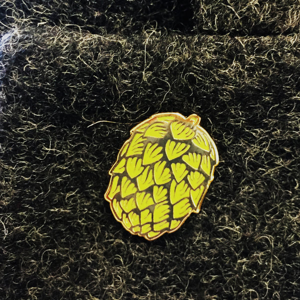 Hop Pin Badge in Silver or Gold