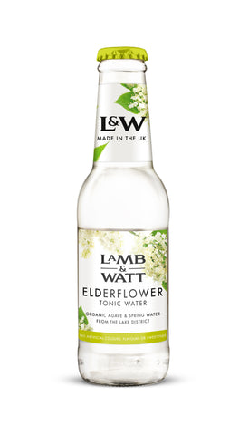 Lamb & Watt Elderflower Tonic Water (Pack of 12)