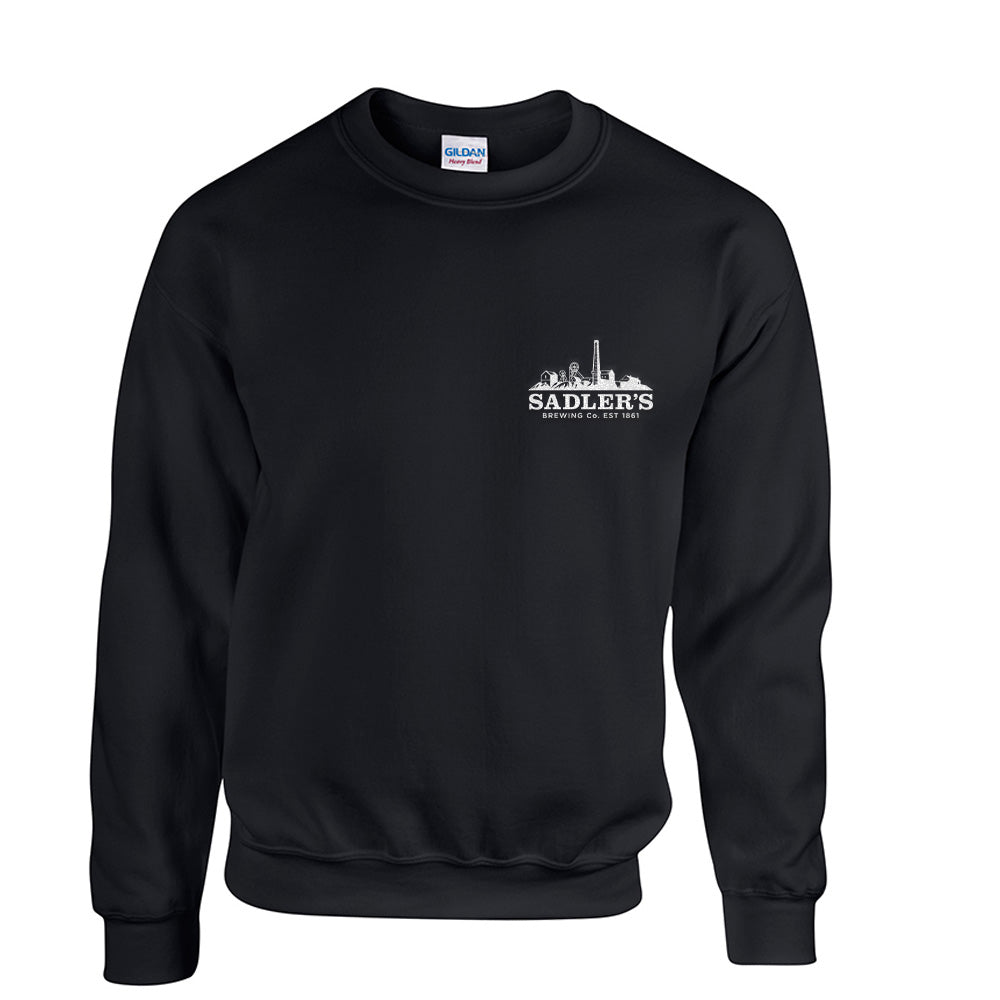 Sadler's Brewing Co. Crew Neck Sweatshirt Black