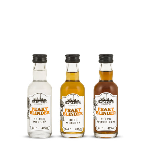 Sadler's Peaky Blinder Spirits 5cl Miniatures x12