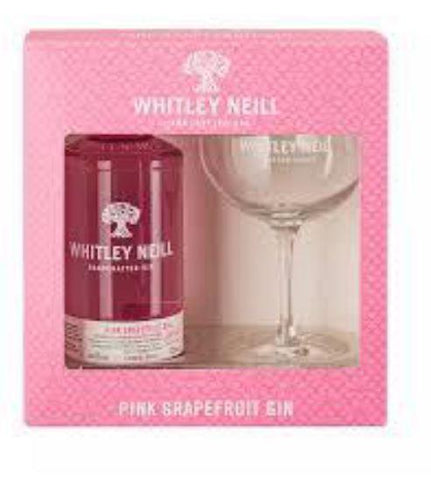 Whitley Neill Pink Grapefruit Gin Gift Pack with Glass - Sadler's Peaky Blinder