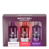 Whitley Neill Gin Flavoured Tasting Gift Pack of 3 Miniatures - Rhubarb & Ginger, Raspberry, Parma Violet