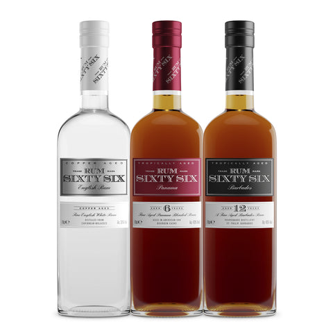 3 Bottles of The Rum Sixty Six Family