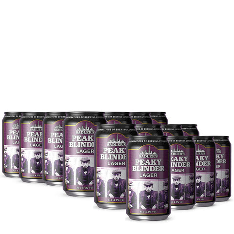 36 Cans of Sadler's Peaky Blinder Lager